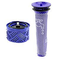 SPARES2GO プレ&ポストモーターフィルターキット Dyson V6 Absolute Total Clean コードレス掃除機用