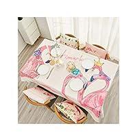 テーブルクロス、プリントテーブルクロス。ホーム用品サイズ:36×36インチ、44×44インチ、68×44インチ、56×40インチ、56×56インチ、72×56インチ、80×56インチ、92×56インチ。色:ピンク (Color : Pink, Size : 56*56 inch)