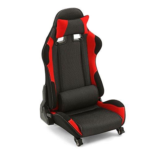 ゲーミングチェア 低座面 座椅子 リクライニング レバー式