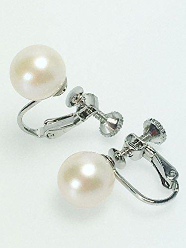 つやたま【最高級】本真珠ラウンドイヤリング 10mm ホワイト