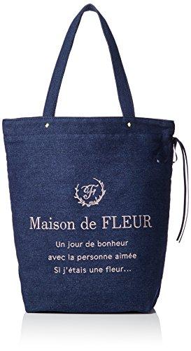 [해외][메종 드 플루] 데님 토트 백/[Maison de Fleur] Denim Tote Bag