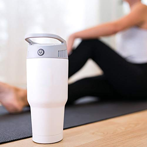 Cozyswan ポータブル扇風機 新型 ボトルスタイル 取っ手付 700ml 冷房暖房3イン1 多機能 電池式 卓上 ポータブルエアコン 静音軽量 携帯性 本体のみ