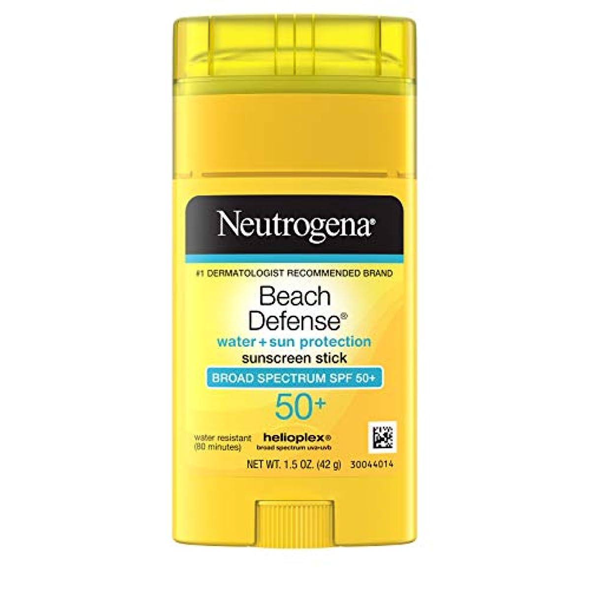 電極服凍結Neutrogena Sunscreen Beach Defense Sunblock Stick SPF 50, 1.5 Ounce