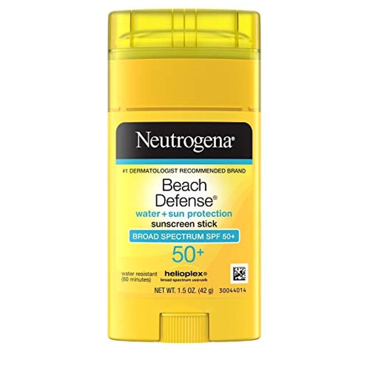融合絶壁ゲインセイNeutrogena Sunscreen Beach Defense Sunblock Stick SPF 50, 1.5 Ounce