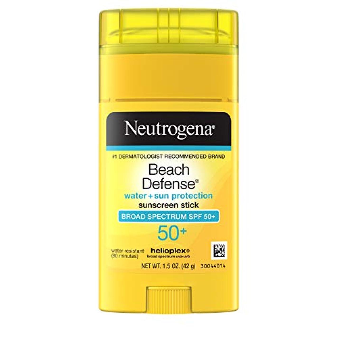 トーナメント補足キネマティクスNeutrogena Sunscreen Beach Defense Sunblock Stick SPF 50, 1.5 Ounce