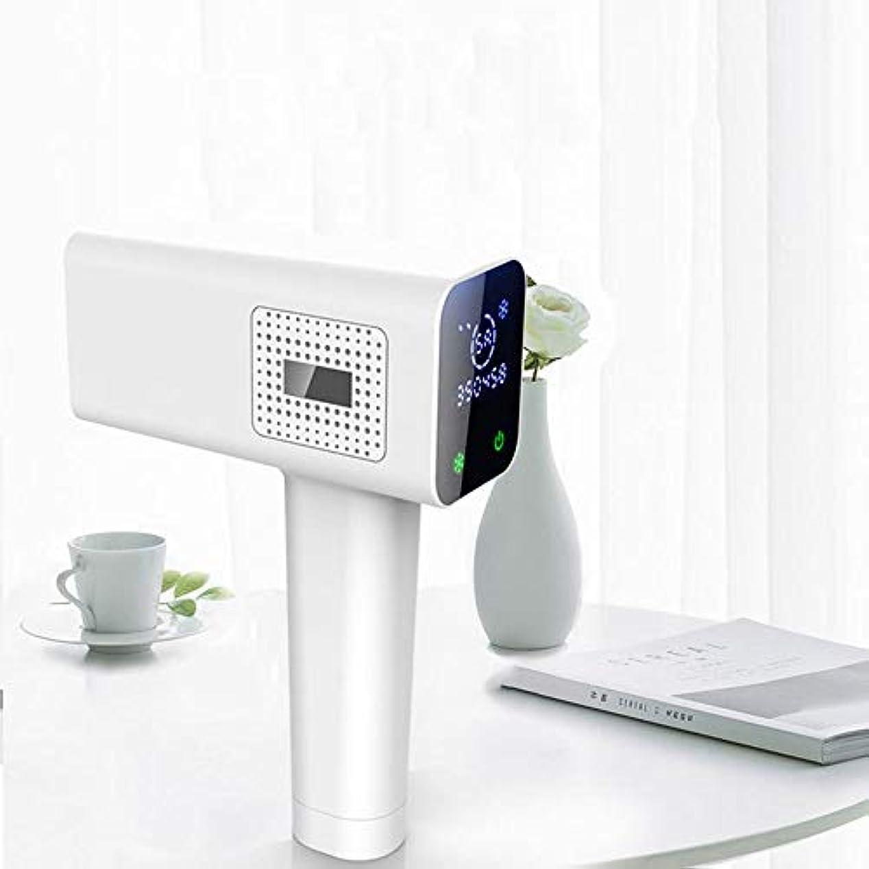 従順会話型請求書Xihouxian ポータブルフルボディアイスポイント脱毛器、シングルフラッシュ、連続フラッシュ、デュアルモード、交換可能なランプホルダー、10スピード調整、LCDタッチスクリーン D40