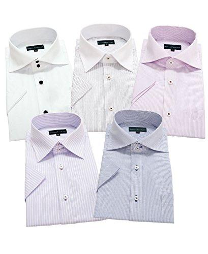 GREENWICH POLO CLUB(グリニッジポロクラブ) 半袖ワイシャツ 5枚セット メンズ 形態安定 pes 222-M