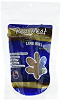 THE REAL MEAT COMPANY 828030 Dog Jerky Lamb Strips Treat, Long, 8-Ounce by The Real Meat Company