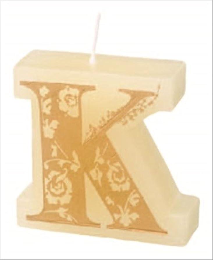 ラリーキャラクター装備するカメヤマキャンドル(kameyama candle) イニシャルキャンドルミニ 「 K 」