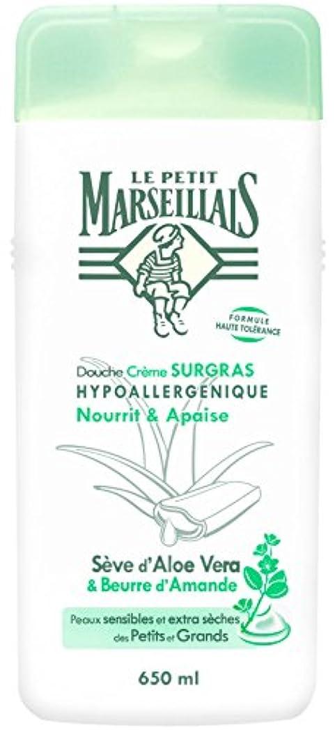 アプト静かに有用「アロエベラ」と「アーモンドバター」 石鹸不使用 低刺激 敏感肌用 中性 ミセルシャワージェル フランスの「ル?プティ?マルセイユ(Le Petit Marseillais)」650ml ボディウォッシュ