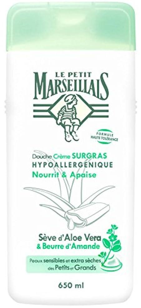 のぞき穴法王比較的「アロエベラ」と「アーモンドバター」 石鹸不使用 低刺激 敏感肌用 中性 ミセルシャワージェル フランスの「ル?プティ?マルセイユ(Le Petit Marseillais)」650ml ボディウォッシュ