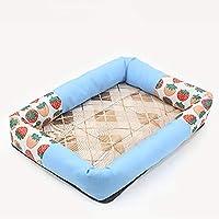 DUOLUO ペットマットペットクーラーパッド犬用冷却パッド リムケネル(カラー:ブルー、サイズ:XL) ペット用ベッドブランケット