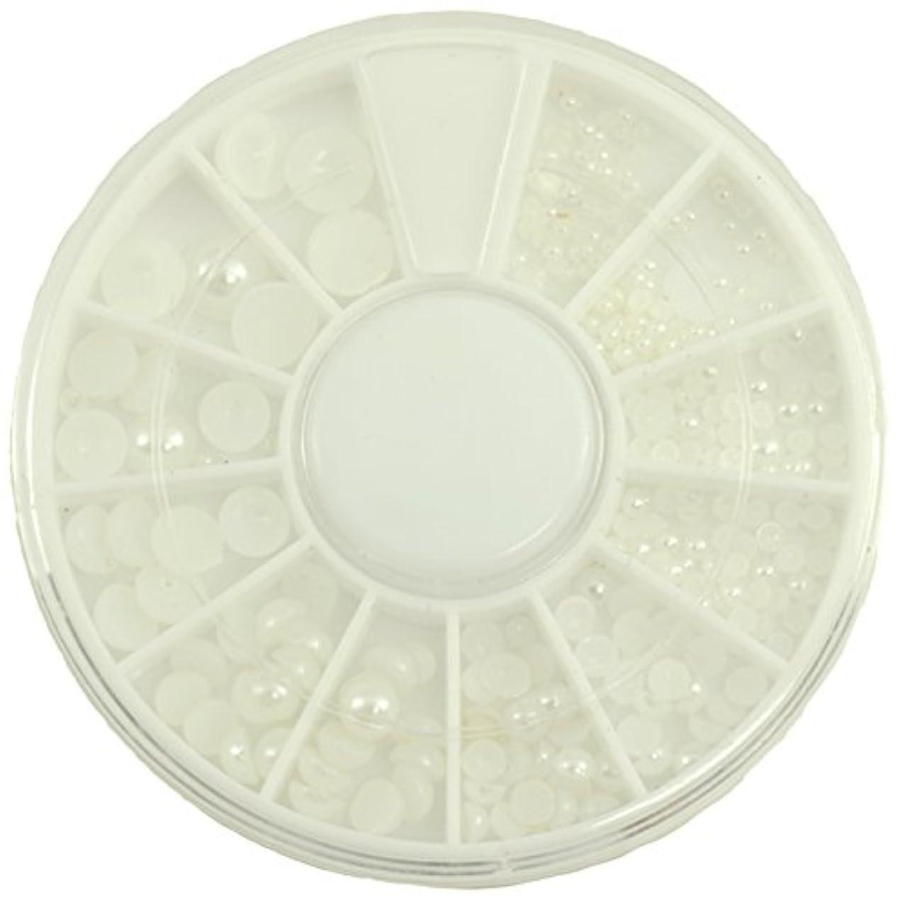 気分が良い材料ぞっとするようなネイルパーツ 半円パール ホワイト MIX 7mm5mm4mm3mm2mm1.5mm デコパーツ