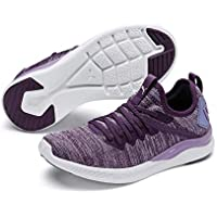 PUMA Kids' Ignite Flash Evoknit Jr Sneaker, Sweet Lavender White-Indigo