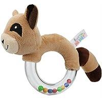 Dalinoベイビーズおもちゃベビーラウンドかわいい動物透明ゴムリングRattles Hand Toy ( Bear )