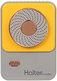 Bladeless Turbine Halter Fan Hands-Free Mini Portable Desktop Handheld USB Rechargeable Fan with Adjustable St