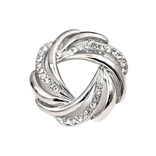 [해외](내 퀸) maikun 스카프 링 브로치 설치 핀 레데이스 단순 귀여운 반짝 꽃 모양 결혼식 4 유형 열기/(My Queen) maikun Scarf Ring Brooch Stall Pin Ladies Simple Cute Sparkling Flower Type 4 Wedding Expansion