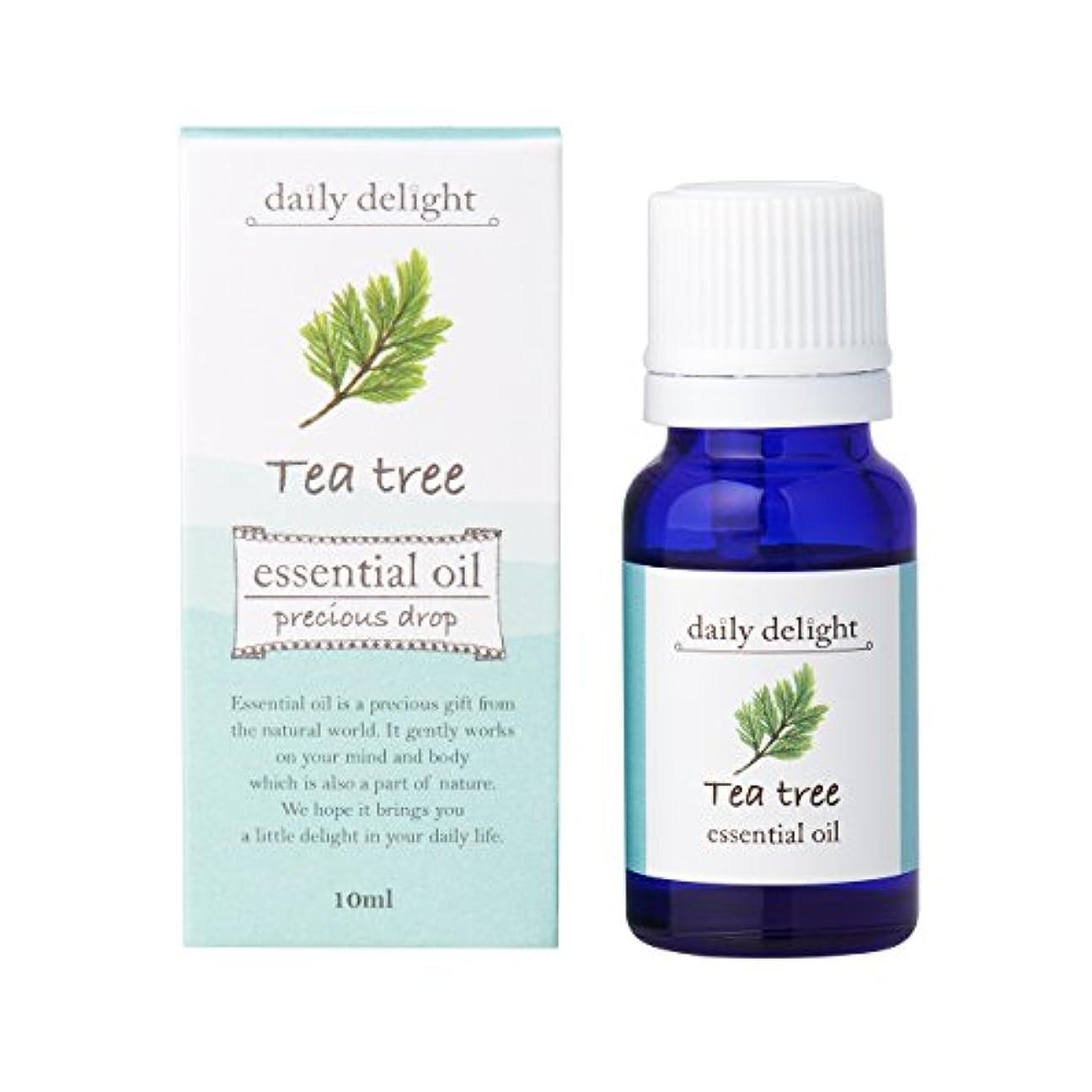 同時びん交じるデイリーディライト エッセンシャルオイル  ティートゥリー 10ml(天然100% 精油 アロマ 樹木系 フレッシュですっきりとした香り)