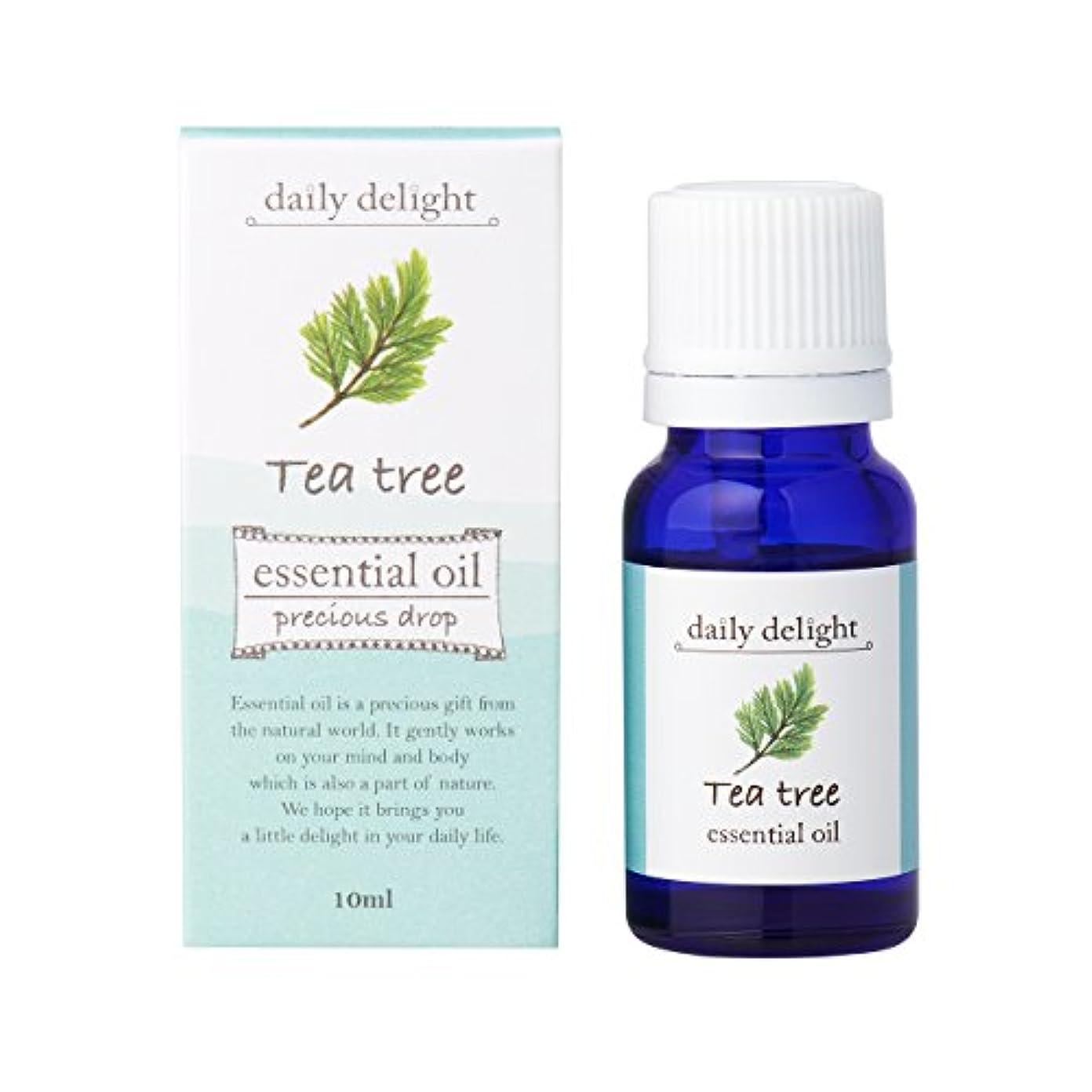 過度のミル酸素デイリーディライト エッセンシャルオイル  ティートゥリー 10ml(天然100% 精油 アロマ 樹木系 フレッシュですっきりとした香り)