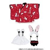 ピュアニーモ XSサイズ PNXSうさみみ和装メイドセット/赤(ドール用衣装)