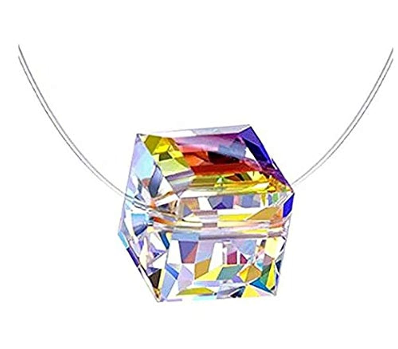 聞くジャニス気怠い七里の香 透明な釣り糸 ネックレス 目に見えないジルコン カラーデザイン ネックレス ペンダント シルバーアクセサリー ペンダント