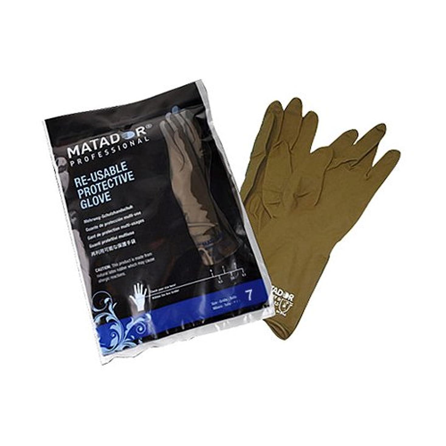ベテラン曲がった注釈を付けるマタドールゴム手袋 7.0吋 【5個セット】