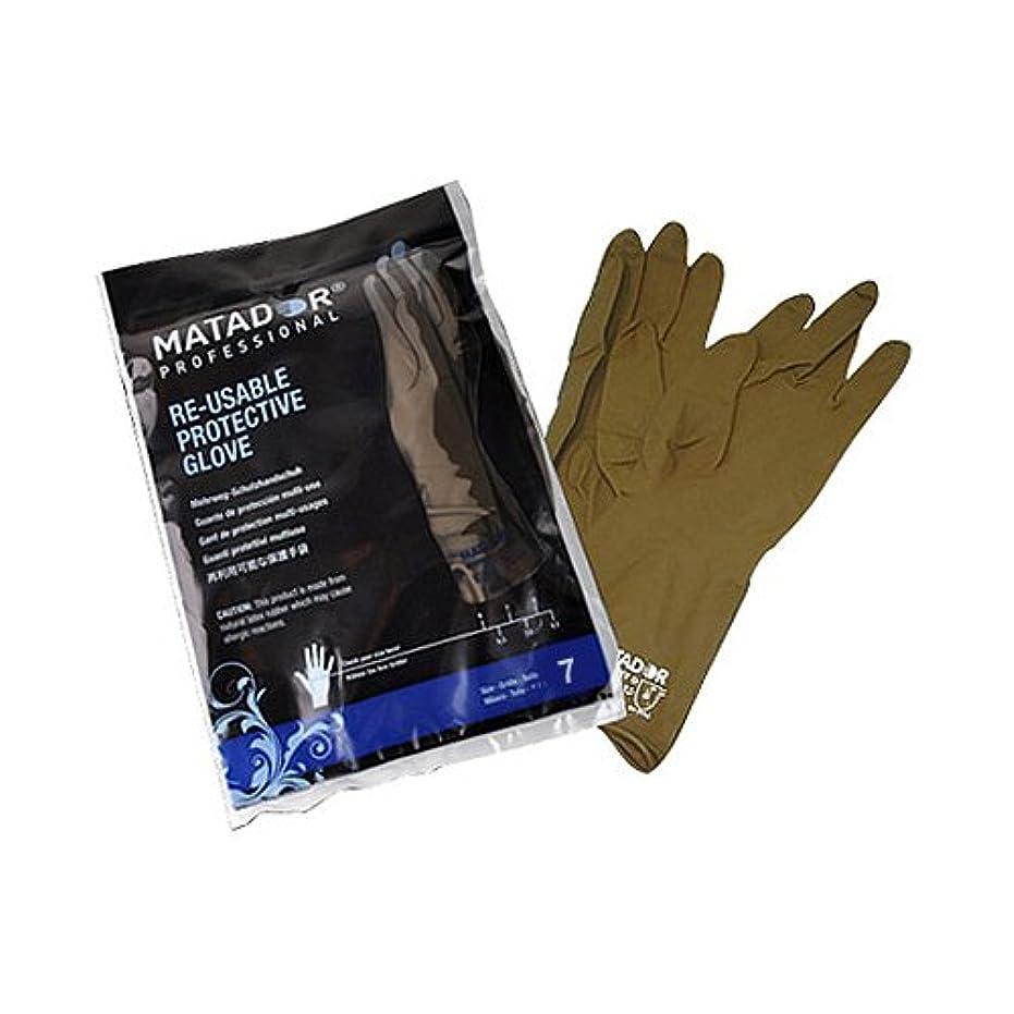 人連続的批判的マタドールゴム手袋 7.0吋 【5個セット】