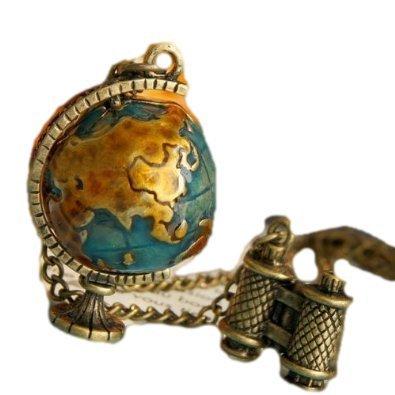 RoomClip商品情報 - 双眼鏡で 地球儀を みてみよう! アンティーク風 オシャレな ネックレス