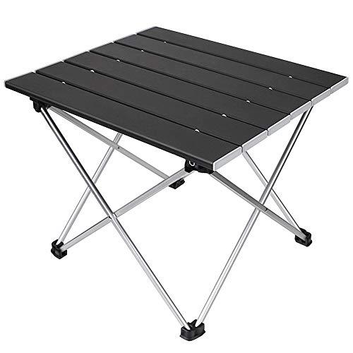 [キャンプ テーブル] Dontery アウトドア テーブル 折りたたみ アルミ製 56×41×41cm 耐荷重30kg コンパクト キャンプ用品 ローテーブル 専用収納袋付き
