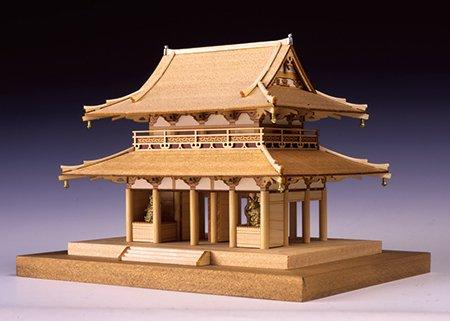【完成品】<木製模型> 法隆寺・中門(1/150)