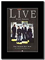 - Live - Secret Samadhi - つや消しマウントマガジンプロモーションアートワーク、ブラックマウント Matted Mounted Magazine Promotional Artwork on a Black Mount