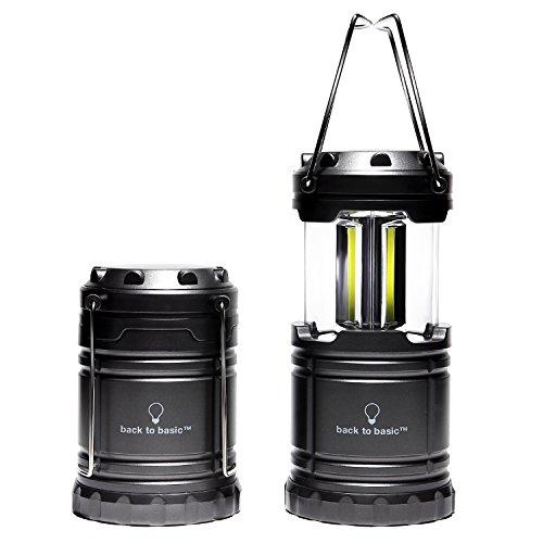 back to basic COB型 LEDランタン 2個セット グレー 超高輝度 コンパクト スライド式調光
