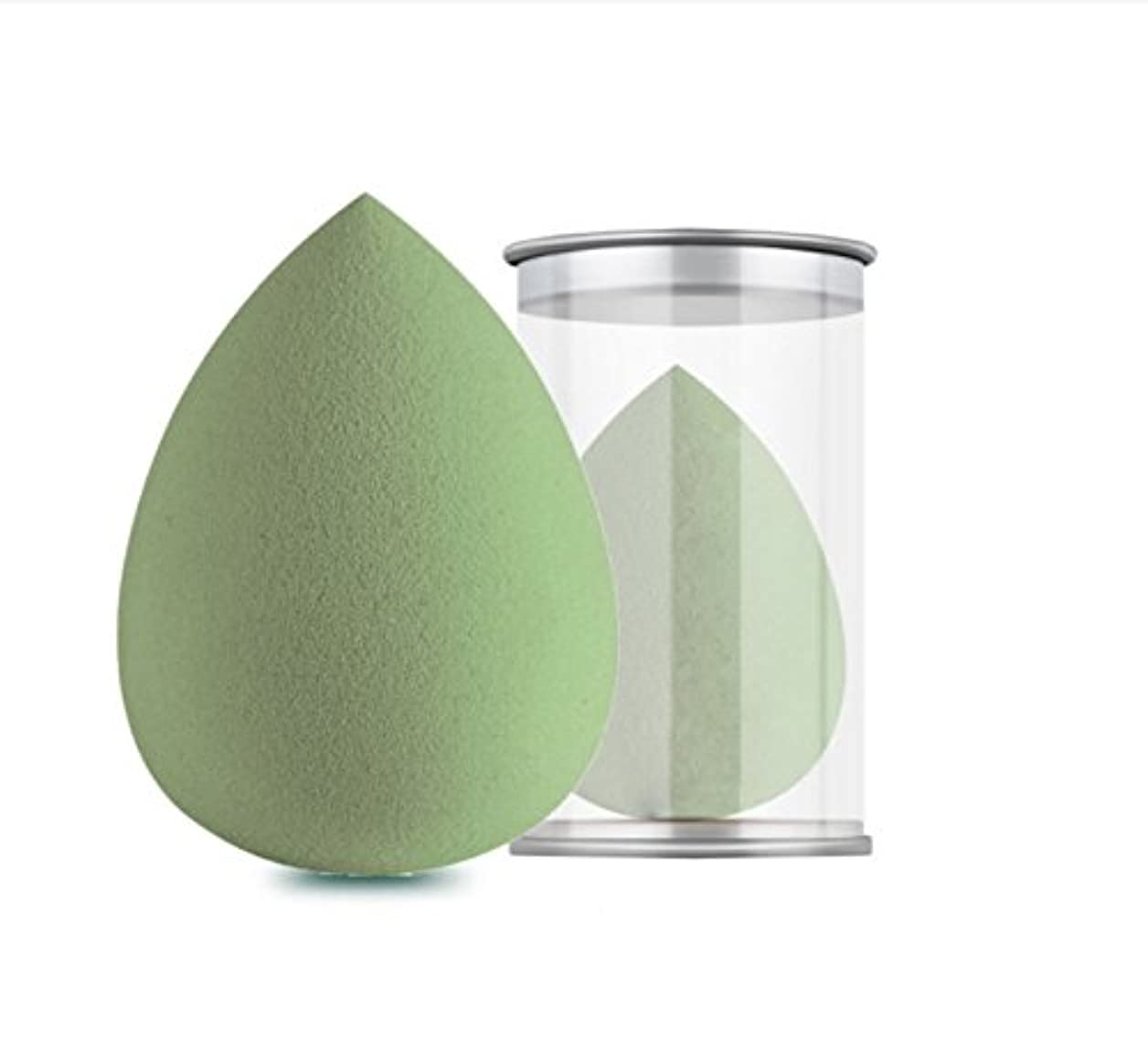 割り込み是正する代わってKinoneメイクスポンジ 斜めカット?卵型 化粧パフ ボックス付き パフ乾燥用抹茶グリーン ワインレッド (抹茶グリーン)