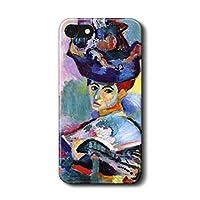 iPhone5c アンリ マティス woman with a hat スマホカバー 名画 絵画 人気 オリジナル 丈夫 耐衝撃 かわいい レトロ