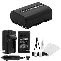 NP - fm50大容量交換バッテリーwith急速旅行充電器Sony dcr-trv11dcr-trv12dcr-trv14dcr-trv15dcr-trv16–Ultraproボーナス含ま:カメラクリーニングキット、スクリーンプロテクター、ミニカメラ旅行三脚