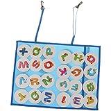 F Fityle キッズ 子ども ナンバーボード アルファベットボード 26文字 数字ボード 2色選ぶ - ブルー