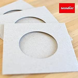 レコード型CD-R レコディスク用 厚紙ジャケット・グレー穴空き 50枚