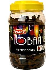 Tridev Loban Incense Cones、500グラムJar