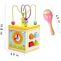 Allyおもちゃ木製アクティビティキューブ&砂ハンマー教育玩具ギフトforキッズ