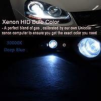 FidgetGear Xenon Headlight Replacement Lights HID DC 55W Kit For Nissan Sentra Titan Z1 Deep Blue (30000K) 9005 (HB3, 9011)