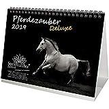 Horse Magic Deluxe DIN A5 プレミアムデスクカレンダー/カレンダー 2019・馬・馬裏乗馬・フォール·スタリオン·メア ·ギフトセット グリーティングカード1枚とクリスマスカード1枚付き