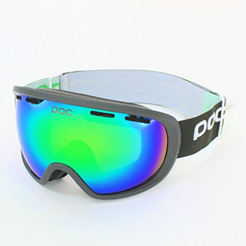 POC FOVEA Methane Green / Persimmon With Green Mirror Lens
