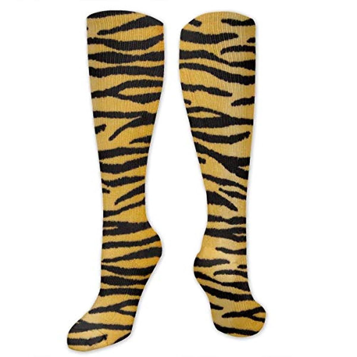 リテラシートイレテント靴下,ストッキング,野生のジョーカー,実際,秋の本質,冬必須,サマーウェア&RBXAA Animal Print Tiger Black Gold Socks Women's Winter Cotton Long Tube...