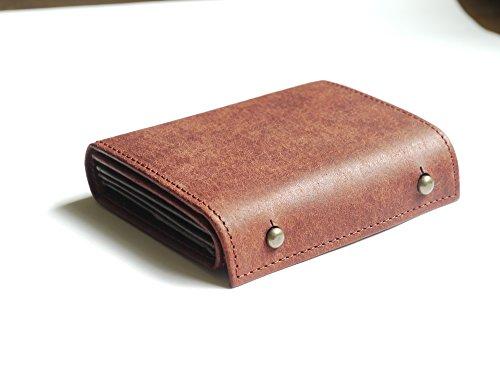 【限定カラー】(エムピウ)m+ 二つ折り財布 millefoglie P25 ミッレフォッリエ2 P25 (PU.bordeaux)