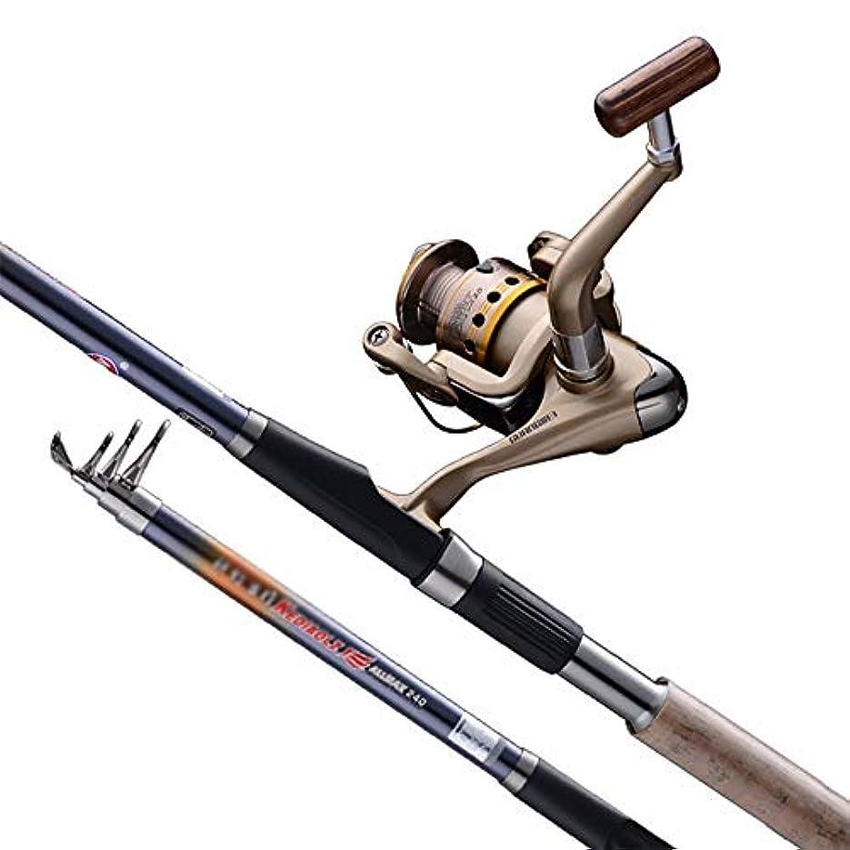 数値米国ベリー海釣りセット 釣りロッドリールコンボラインルアーフック旅行スタータープロフェッショナルフルセット3000糸車をスピニングでキットをタックル 理想的な釣りセット (Color : A, Size : 3.0m)