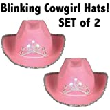 Pink Blinking Cowgirl Hat (set of 2) - Child's [並行輸入品]