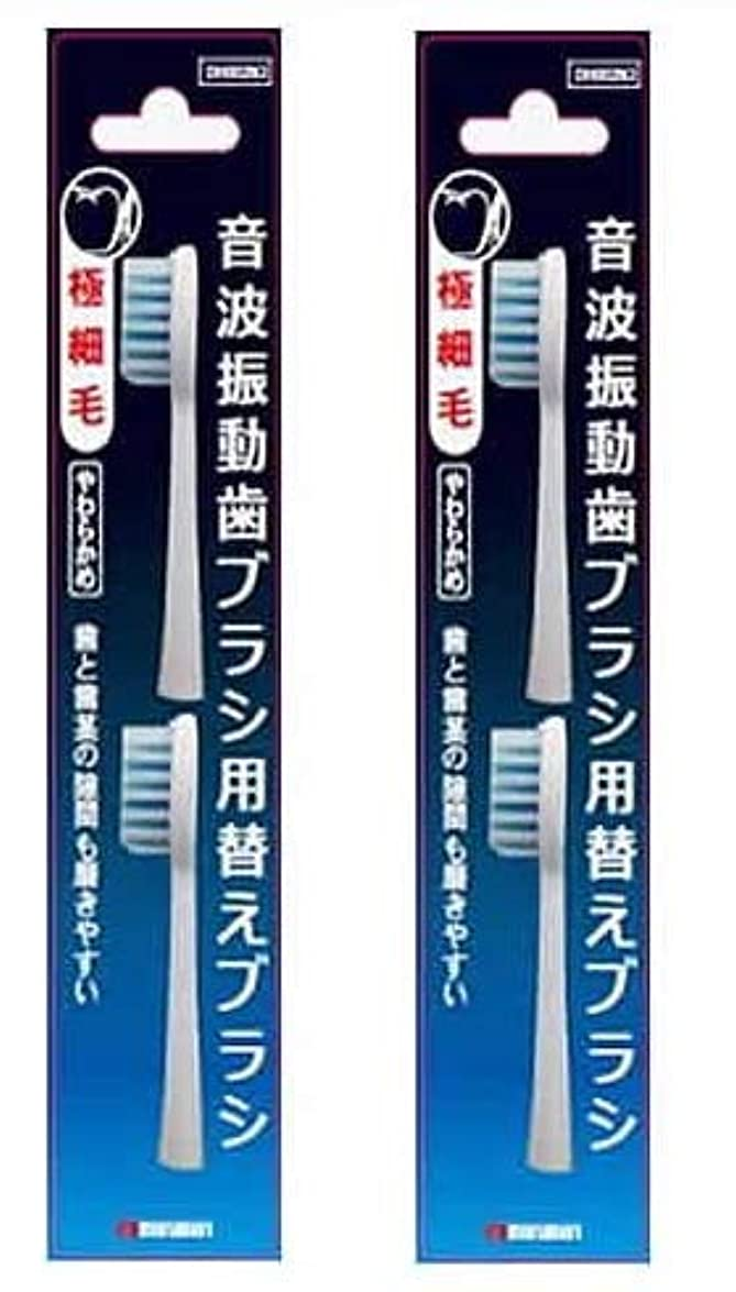 あいまいさジュニアミュウミュウマルマン 電動歯ブラシ ミニモ/プロソニック1/プロソニック2/プロソニック3 対応 替えブラシ 極細毛 2本組 DK002N2 (2)