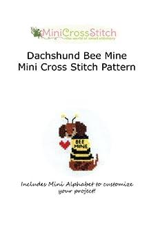 Dachshund Bee Mine Mini Cross Stitch Pattern by [Stitch, Pinoy]
