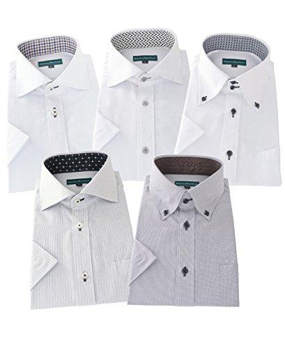 GREENWICH POLO CLUB(グリニッジポロクラブ) 半袖ワイシャツ 5枚セット メンズ 形態安定 pfs 444-LL