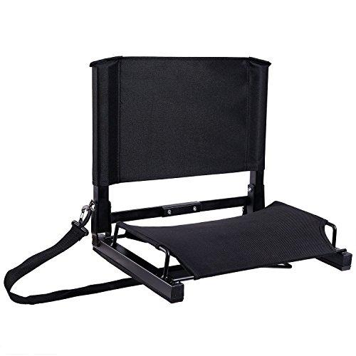 スタジアムシート 軽量 折りたたみ式 チェア ベンチ アウトドア用 キャンプ 観覧席 屋外 軽量 ブラック